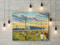 plainmoor going to the match  canvas a3 size